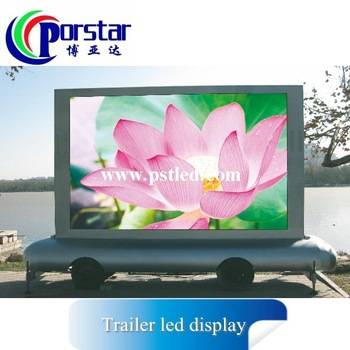 outdoor tralier advertising import led display screen from china