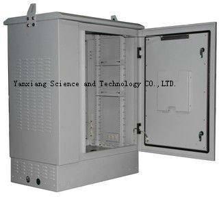 SK-76105 18U 19 inch rack waterproof outdoor telecom cabinet with heat exchanger