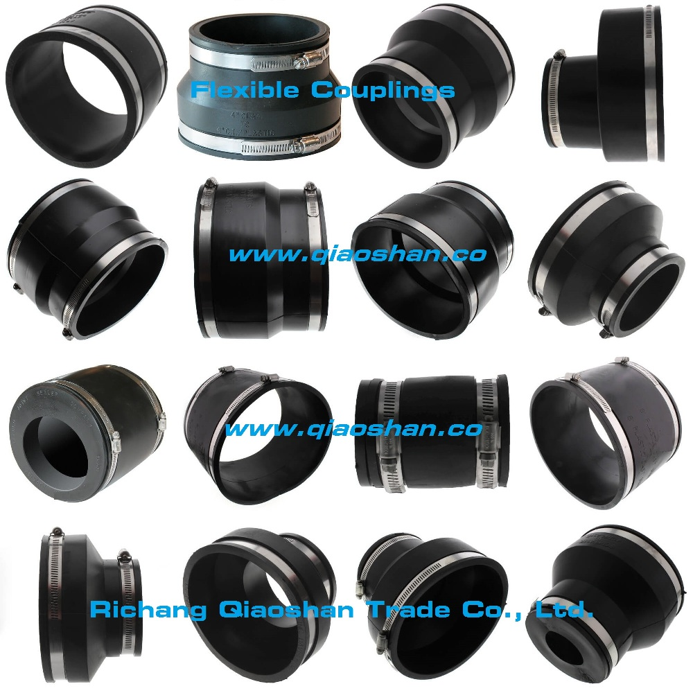 Flexible Coupling1056 Cast Iron, Plastic, Copper, Steel or Lead to CI, PL, Copper, ST or Lead