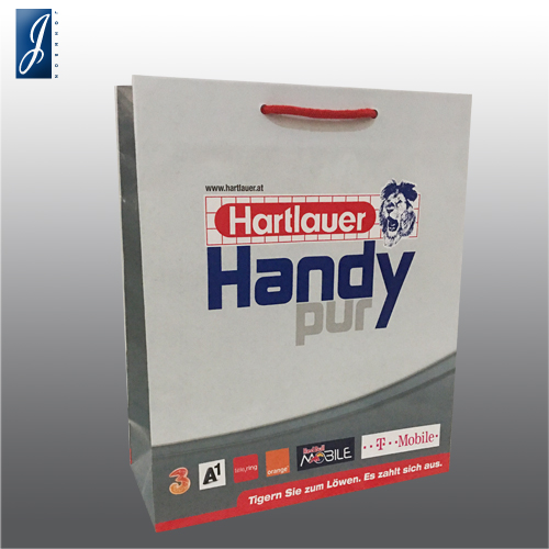 Customized promotional paper bag for HANDY