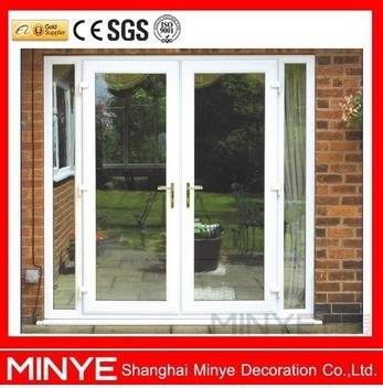 PVC DOUBLE CASEMENT DOORS WITH DOUBLE TEMPERED GLASS