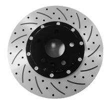 "Premium Aluminum Brake ROTORs 16"" Front -Slot&Hole Type"
