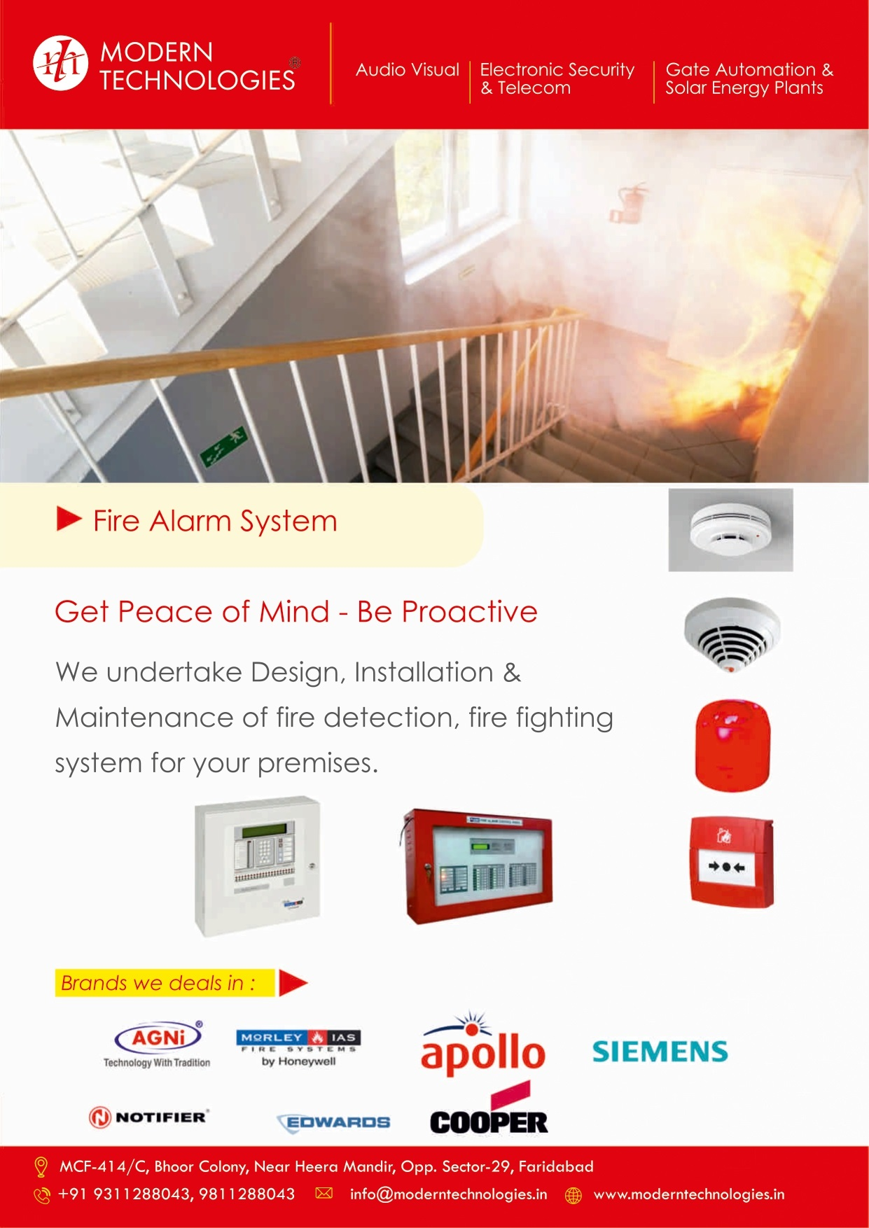 Agni, Notifier, Cooper, Edward, Fire Fighting System with complete Installation