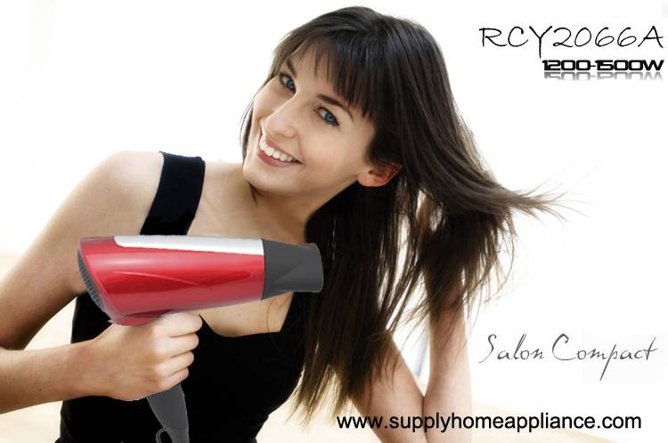 Compact Ion Travel Hair Dryer for Hotel