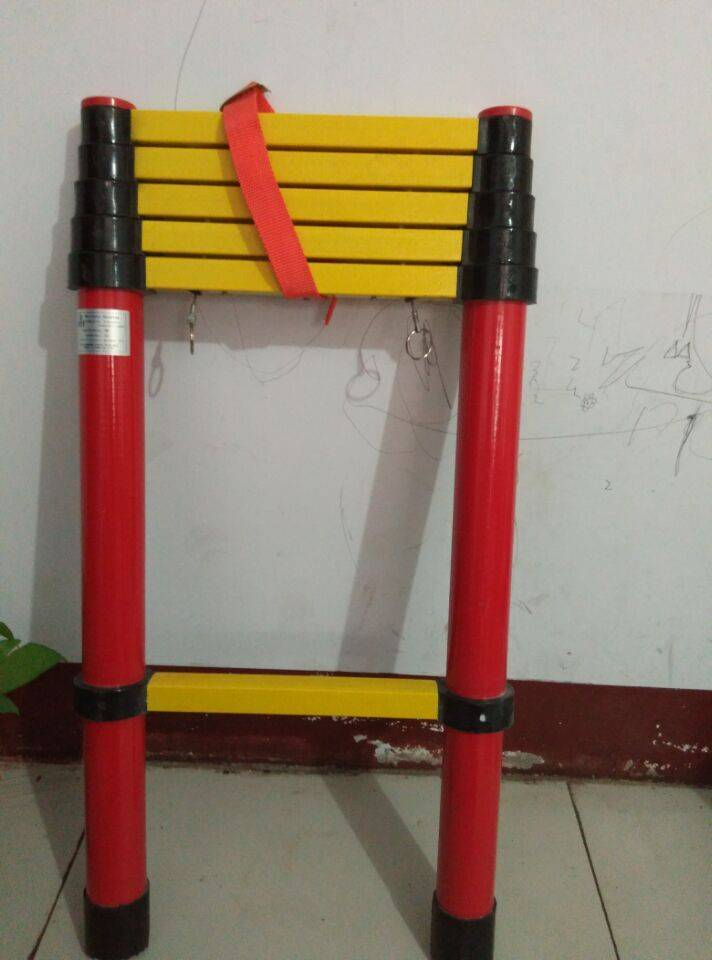 factory supply 2.2m-3.8m fiberglass telescopic ladder