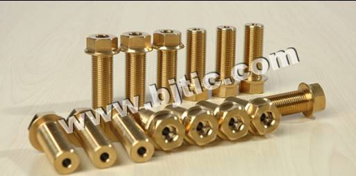 Titanium fasteners, titanium machined parts