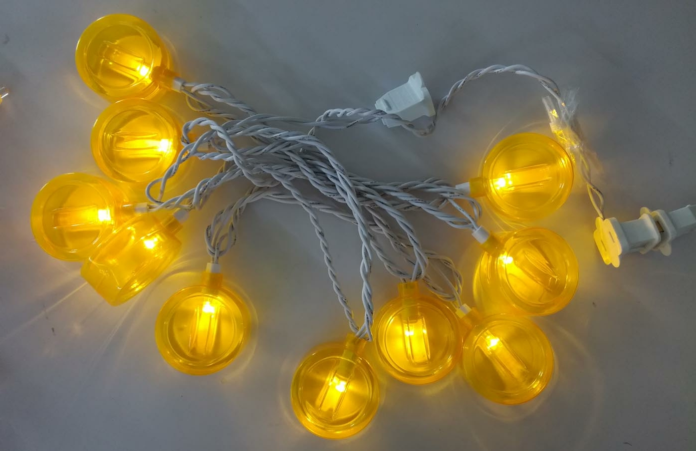 golden coin string lights