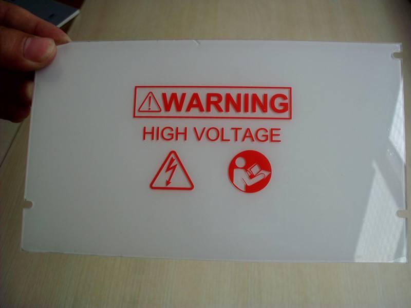 Custom polycarbonate signboard/custom silkscreen printing service