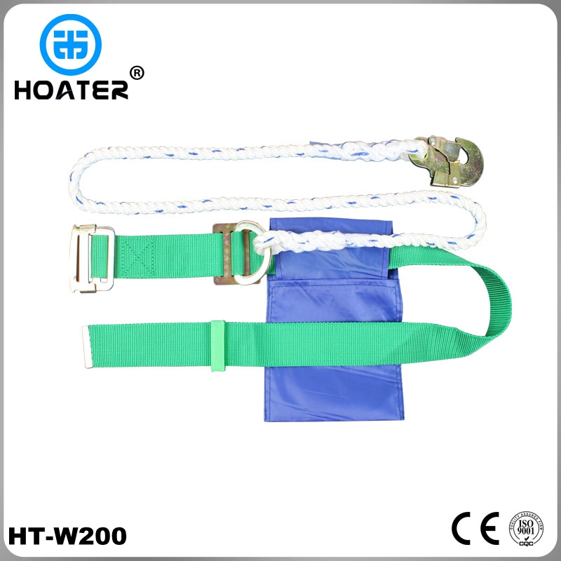 Electrician safety belt with safety lanyard