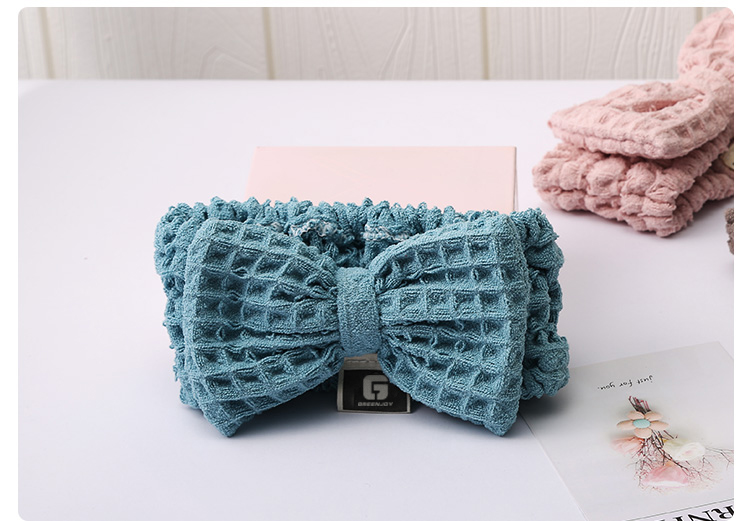 Bow Hair Band,Soft Waffg hairband for women and girls