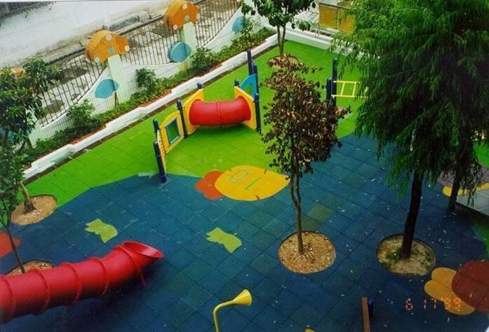 kindergarten playground rubber mats