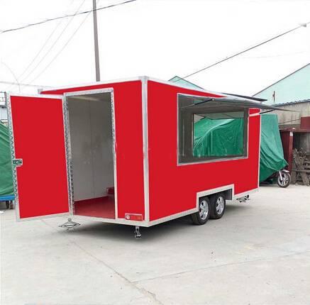 ice cream cart with slide door mobile food truck for sale