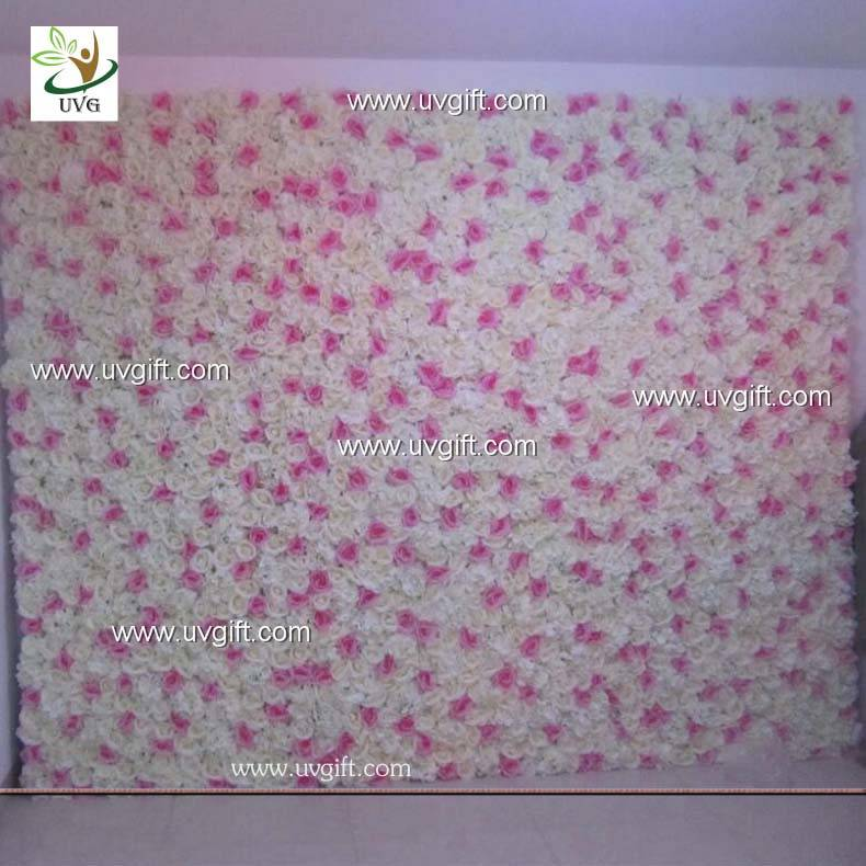 UVG silk artificial roses and hydrangeas flower wall photography backdrops for weddings