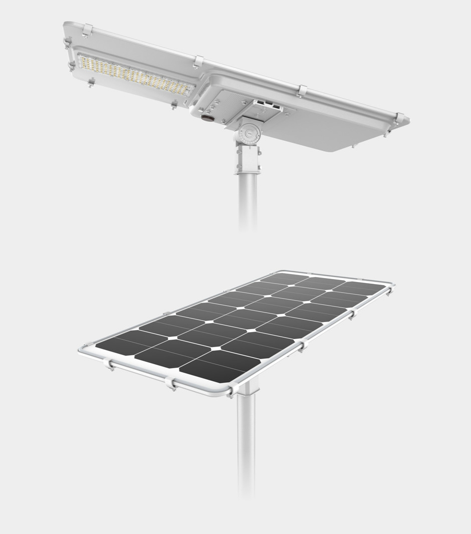 Motion Sensor Quality Outdoor Lighting Parking Lot Discount 55W 50W 60W LED All in One Solar Street