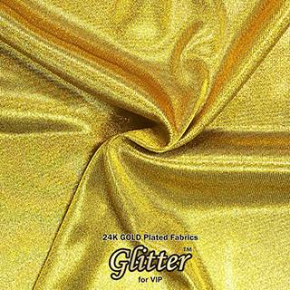 24K Gold  Plated Fabric with Nanocoating - Jersey Fabric G-JY01