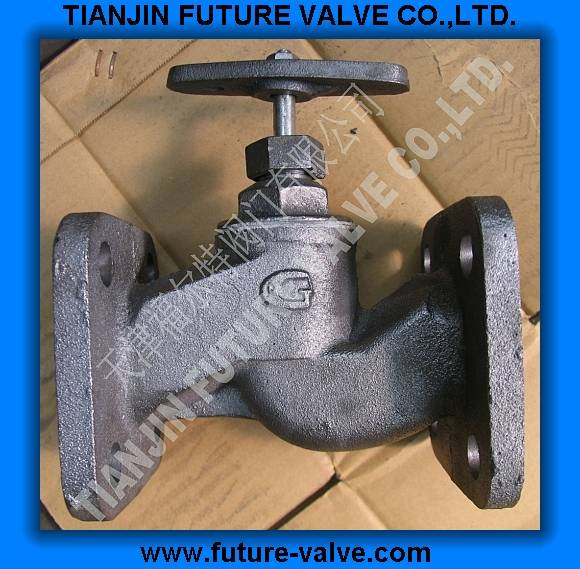 GOST PN16 Square Flanged End Globe / Stop Valve