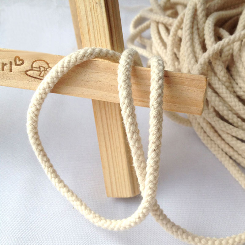 Stock/Customized Low MOQ Off white 8 strand cotton cord