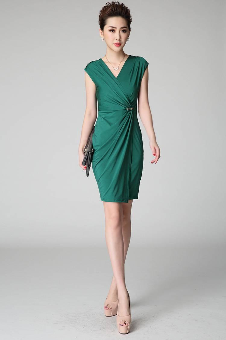 Green slim Dress