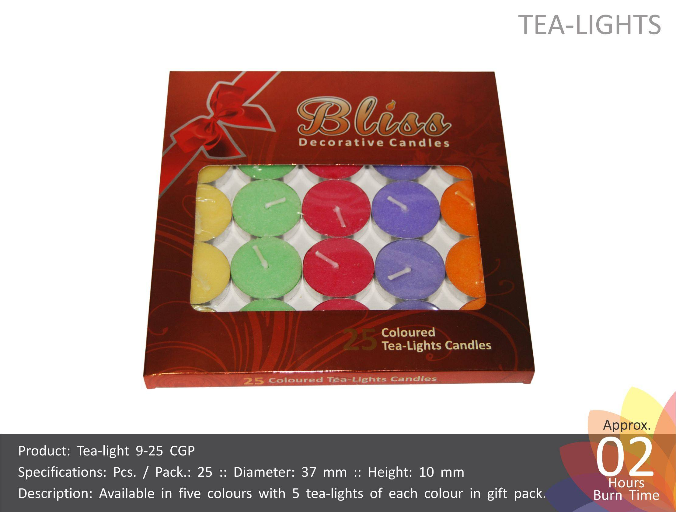 Tea Light Candles Colored Gift Pack