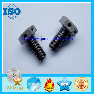 Customized Special Hex Head Bolt With Hole in head grade 8.8 10.9 12.9