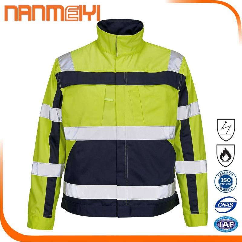 Hi Vis Reflective Safety Men's Construction Jacket for Sale