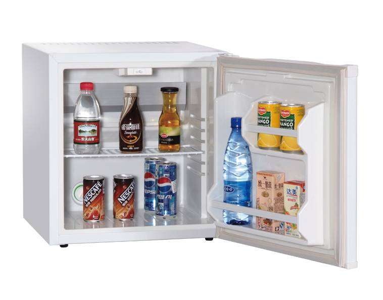 White Foamed Door Hotel Fridge Cabinet Electric Icebox Cooler