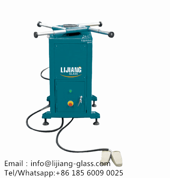 Rotated table for insulating glass machine