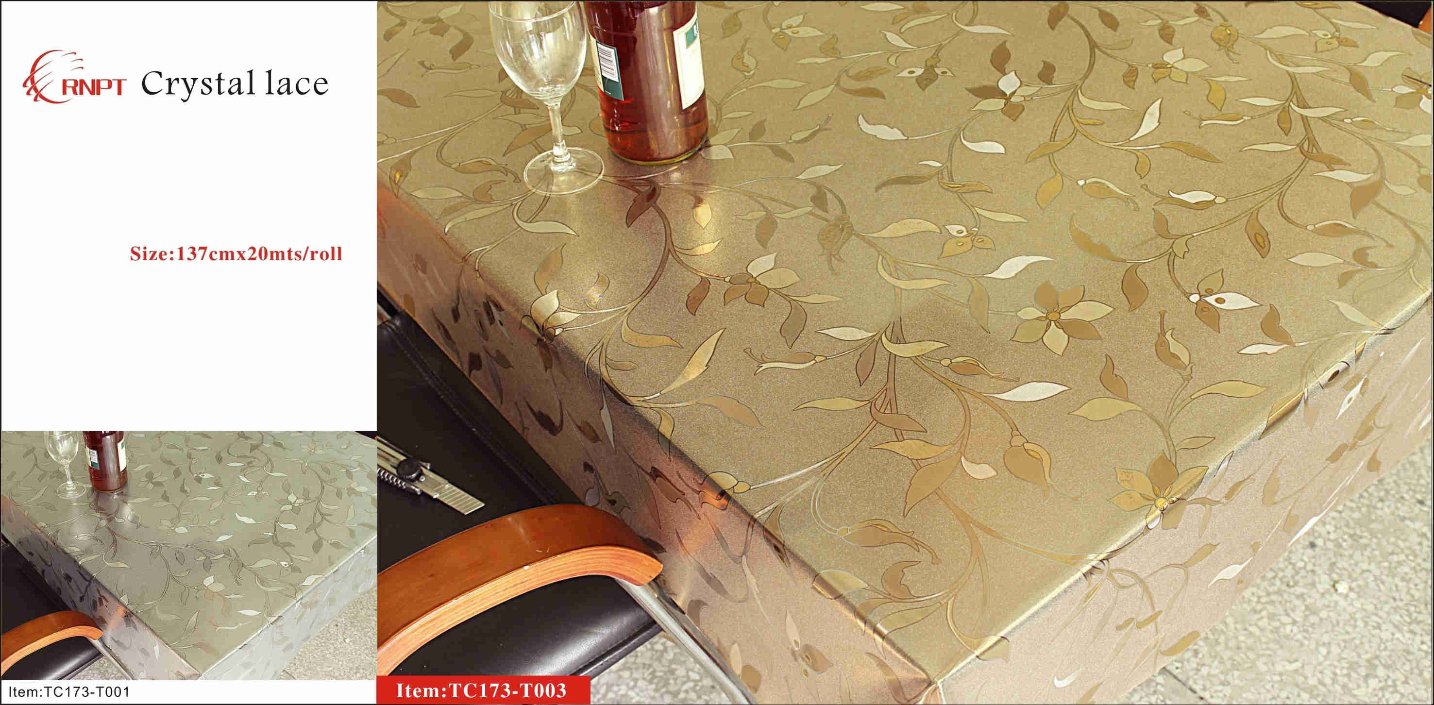 pvc crystal lace table cloth