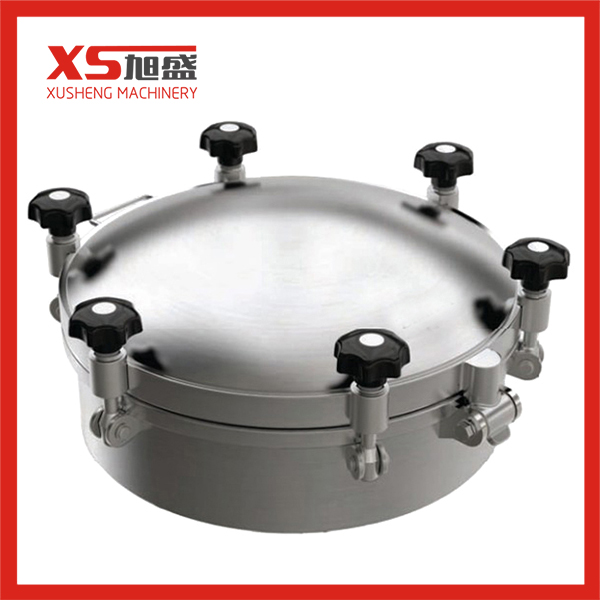 Stainless Steel SS304 316L Sanitary Round Pressure Manhole