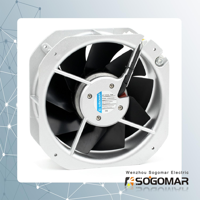 axial fan/ ventilation fan 225X225X80mm cooling fan with metal blades