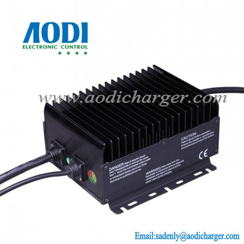 Aerial work platform battery charger