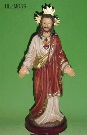 Poly resin religious statue