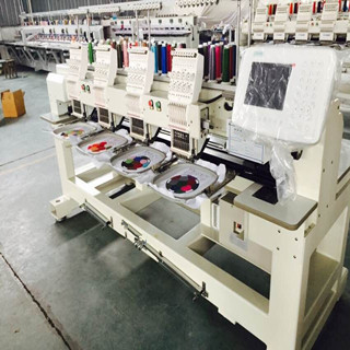 4 heads cap/t-shirt/tubualr embroidery machine