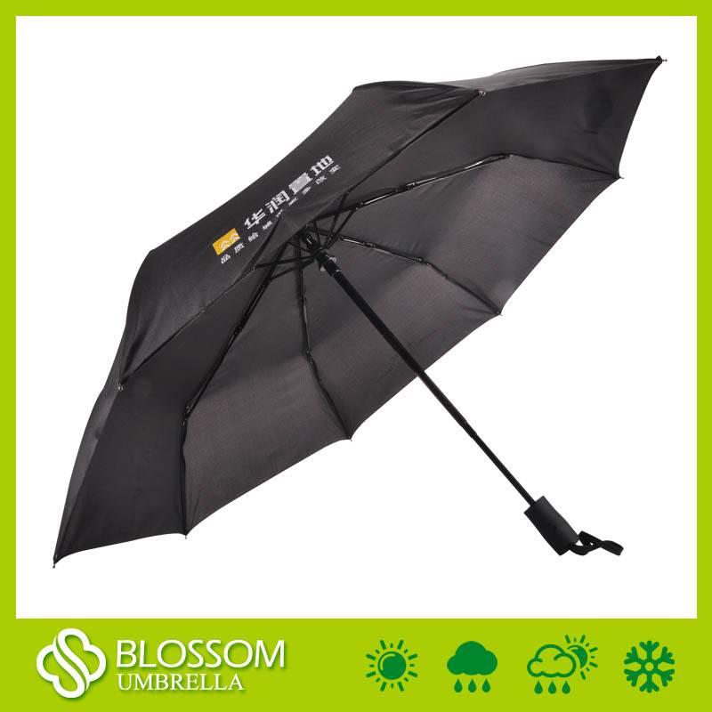 Auto open and auto close 3 folded umbrella for promotion