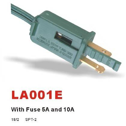UL C(UL)2-pole2-wire Plug 1-15P 125V~
