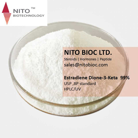 Factory Quality Control, Strong Steroid Powder:Estradiene Dione-3-Keta with CAS NO:5571-36-8