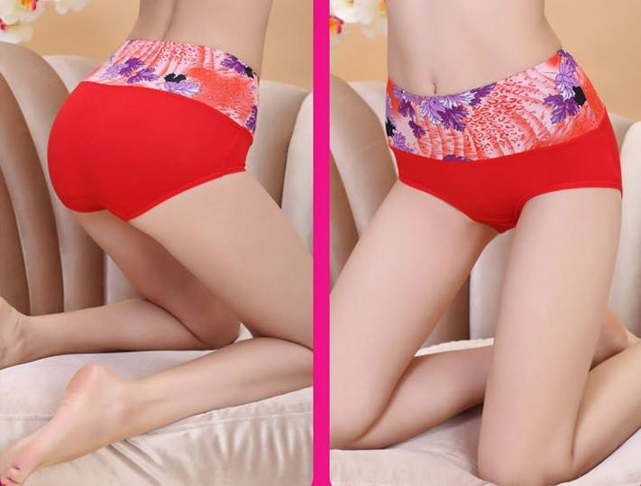 Hipster wide printing waitst 100% bamboo fiber brief underwear-5168#