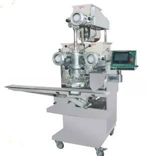 Automatic food encrusting and filling machine