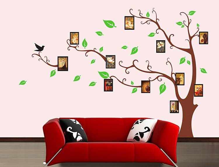 Family Photo frame tree Wall sticker family tree decal for DIY Home decor Size 60x90cm