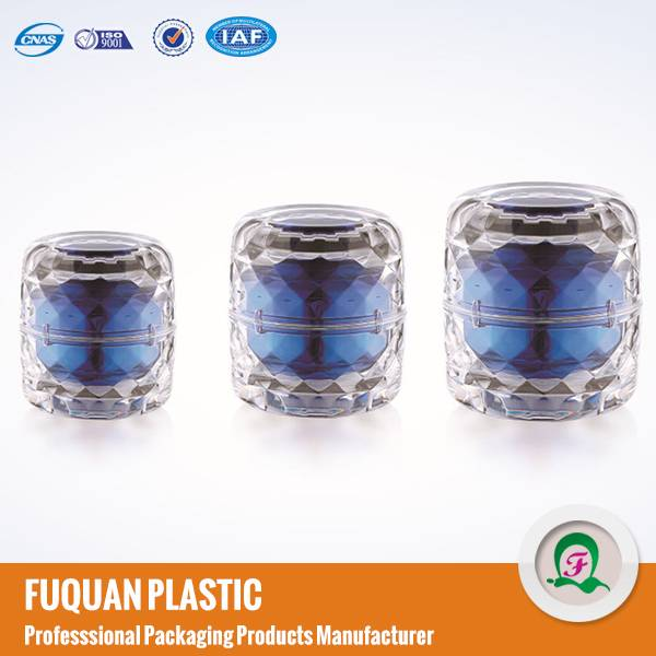 Small Order Crystal Acrylic Cosmetic Jars