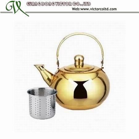 Stainless steel golden kettle