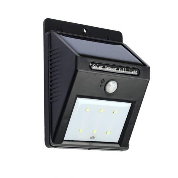 6LED Solar Power PIR Motion Sensor Wall Light Outdoor Waterproof Garden Lamp
