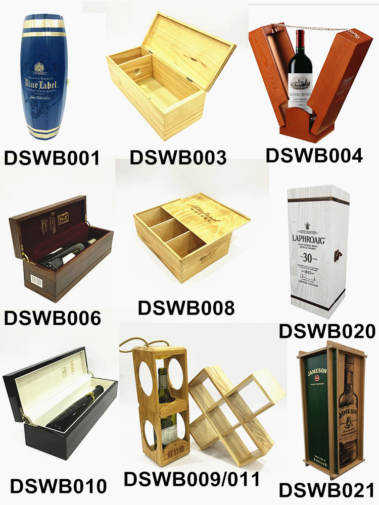 Wholesale luxury wood wine box single bottle packaging