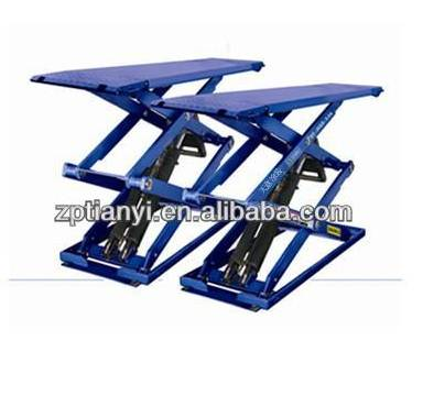 Shandong Tianyi short platform double scissor lift /car lift/hydraulic car lift