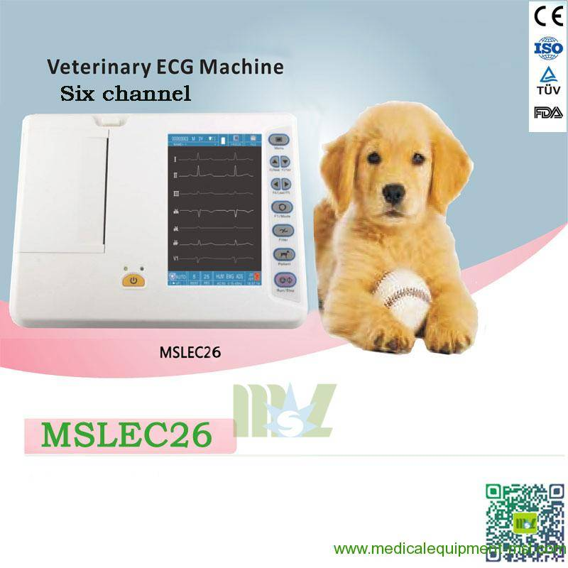 Portable 6-lead channel veterinary ecg machine for sale-MSLEC26