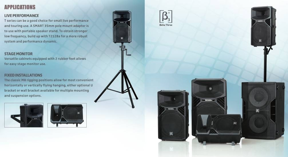 "12"" Two Way Full Range Active Plastic Speaker"