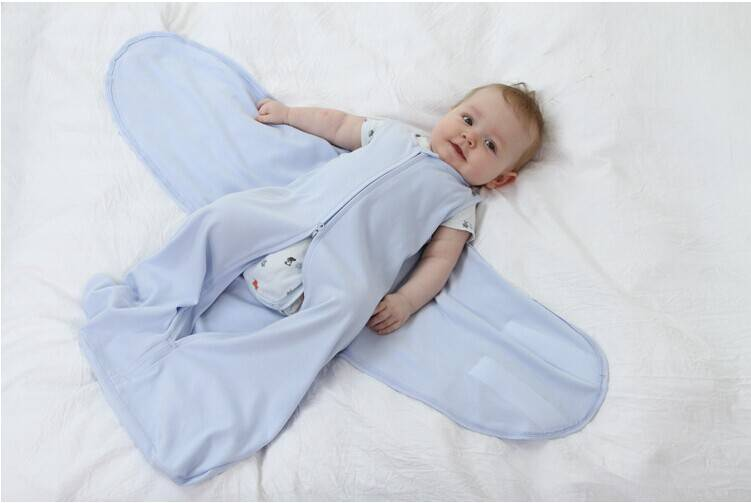 LAT Free shipping 100% cotton Jersey sleeping sack with wing 85 cm baby sleeping bag
