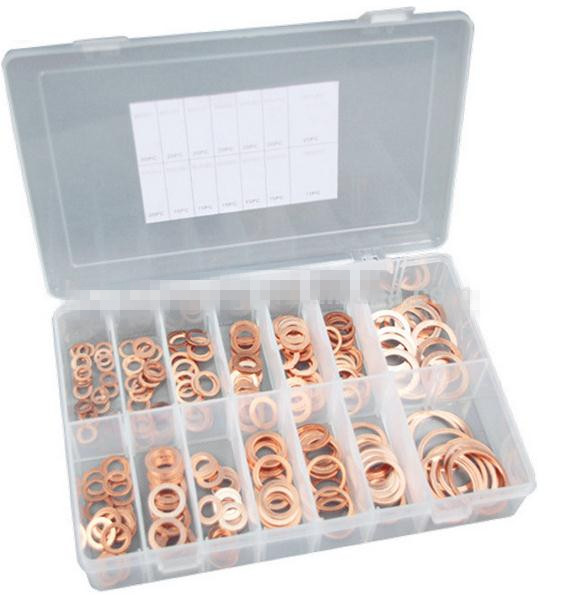 TC BV Certification 250pc Hardware Assorted Copper Sealing Washers