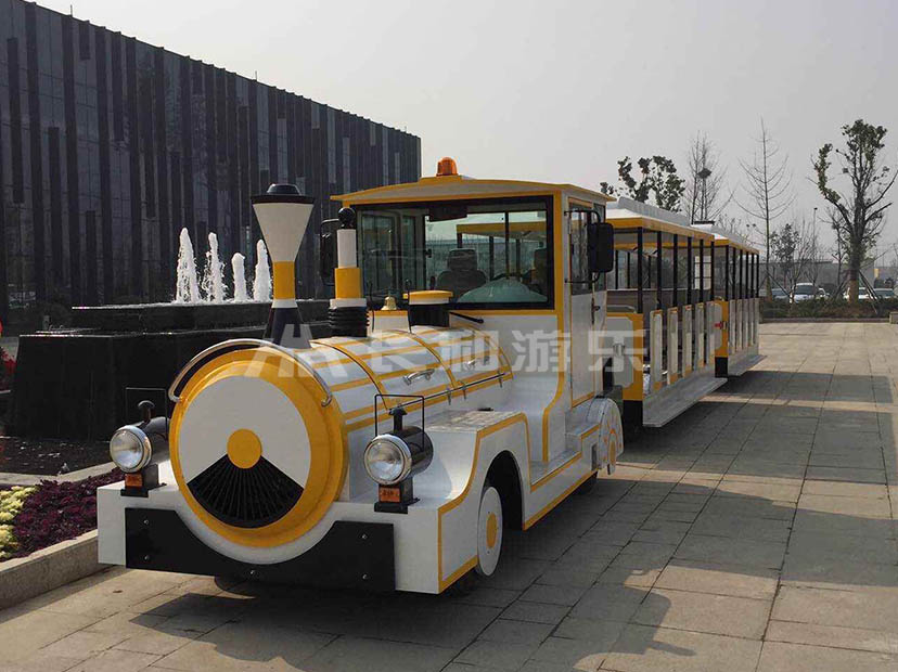 Playground tourist train trackless tourist train