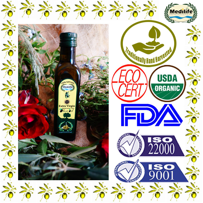 Extra Virgin Olive Oil 250 ml Maraska Dark Glass Bottle